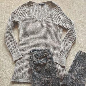 American Eagle Comfy Chunky Beige Sweater
